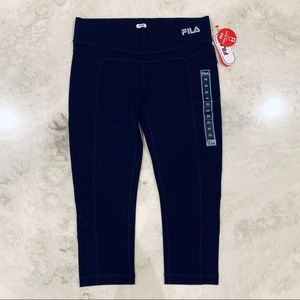 🆕 FILA Black Performance Sports Capri Leggings